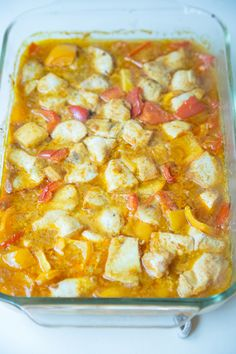 Thai Chicken Bake ~ an easy and delicious gluten free recipe that everyone at your house will love! | 5DollarDinners.com