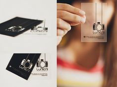 Lumen Photography transparent business cards || Lummen Bigott