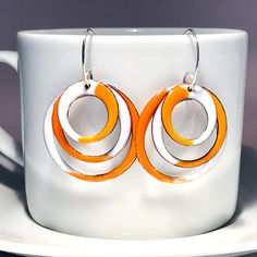 Large Hoop Earrings Modern Geometric Statement Earrings