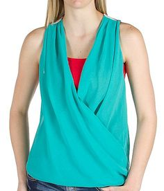 BKE Twisted Tank Top - the front is super cute and then you see the back.