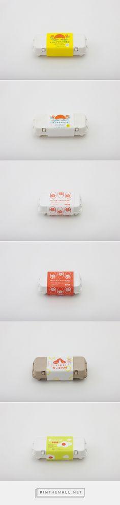 雲の上の卵 パッケージのデザイン|いとう養鶏場  curated by Packaging Diva PD. Assorted egg packaging.