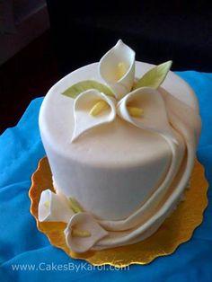 Mini cake calla lilies