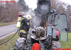 FF Krems: Brand eines Traktors rasch gelöscht #feuerwehr #firemen