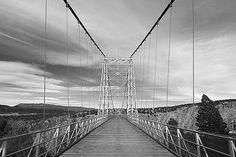 Royal Gorge Bridge--definitely a one way bridge.   No. way.