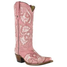 """I got a bad case of the """"I-WANTS""""!! Corral Women's Floral Stitched Snip Toe Western Boots"""