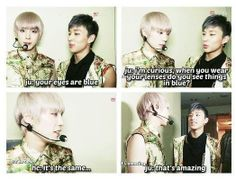 Himchan Jongup - as usual momma himChan is patient wid his lil out of d world son