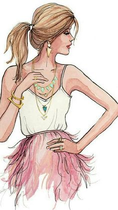 #Girl draw fashion by elea_pinsard   We Heart It