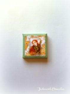 """Mini toile décorative série """" Dans l'univers d'Amandine ... """" n°8 : Accessoires de maison par jademiel-etincelles"""