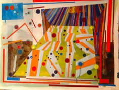 No. 1 Ambivalence Test. Watercolour, Gouache, Pencil. Painting on A2 watercolour paper.