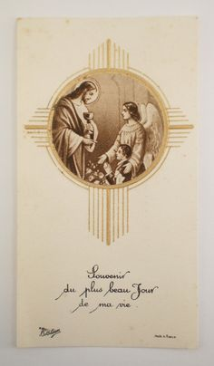 French Communion Card