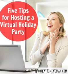 Just because you work from home doesn't mean that you have to be excluded from the traditional holiday fun! Here are a bunch of ideas for hosting a virtual holiday party. via The Work at Home Woman