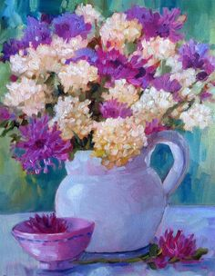 """White Pitcher"" original fine art by Libby Anderson"