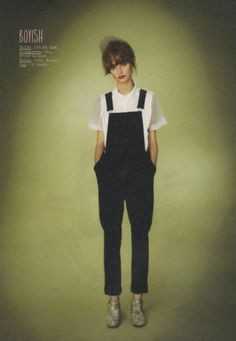 Black dungarees | Boyish | Workwear | Simple
