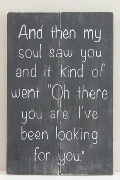 I Was Looking, I Found You, I Had You And Now I've Lost You