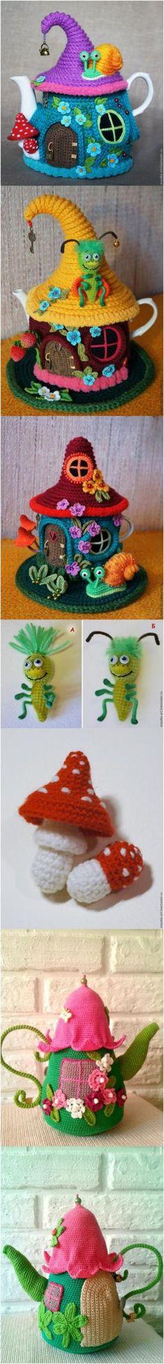 Crochet Tea Kettle Cover with Free Patterns #Crochet #Pattern #Free #Cozy #Tea by simone