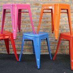 Colorful Tolix Tabouret Stools