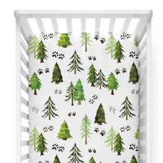 Designing a woodlands themed nursery? Our woodland tree crib sheet is an exclusive design from our company and is perfect for a gender neutral nursery.