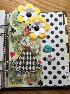 Planner divider May 2016 using a Julie Nutting doll stamp