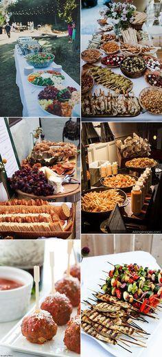 wedding food station ideas for 2018