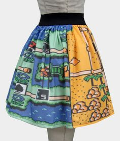 Mario World Two Levels Full Skirt by GoChaseRabbits on Etsy, $45.99