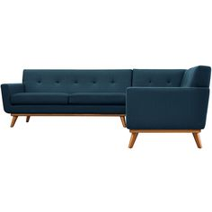 Engage L Shaped Sectional Sofa Azure - Modway Living Room Sets, Living Room Modern, Living Room Furniture, Furniture Stores, Kitchen Furniture, Rustic Furniture, Kitchen Living, Cheap Furniture, Living Area