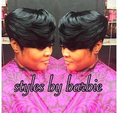 #FeatheredBangs #Weave #ShortWeave Feathered Bangs, Short Weave Hairstyles, Weaving, Barbie, Future, Hair Styles, Future Tense, Hairdos, Knitting