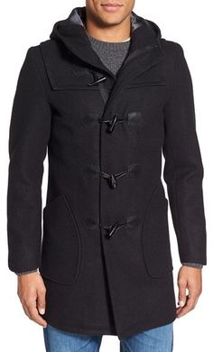$325, Schott NYC Satin Lined Wool Blend Duffle Coat. Sold by Nordstrom. Click for more info: https://lookastic.com/men/shop_items/383736/redirect