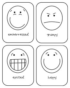 Free printable emotion flash cards.