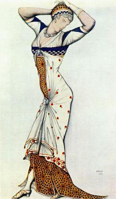 Leon Bakst - design for a ladys dress (1912).jpg