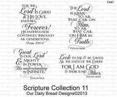 Our Daily Bread Designs Scripture Collection 11 - Cling Rubber Stamp. Cling rubber stamps from Our Daily Bread Designs, featuring the sentiments For the Lord is