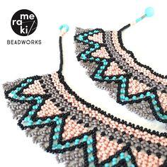 Meraki _ Necklace. Beadworks - Hamburg, Germany. Ethnic inspiration. #beadworks #bead #necklace #hamburg #perlen #schmuck #Meraki_beadworks #rocailles #beads #halsband #fashion #mostacillas #ethnic #chick #moda #accessories #colours #handcraft #beadwork #earring #style #germany #deutschland #moda