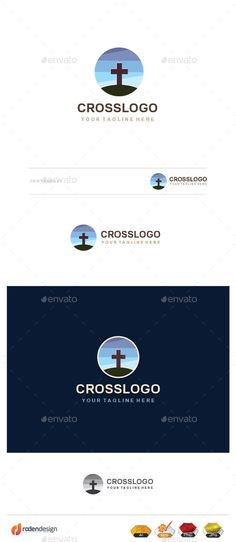 Cross Logo — Vector EPS #bible #christ • Available here → graphicriver.net/...