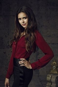 Nina Dobrev as Elena Gilbert & Katherine Pierce on the Vampire Diaries