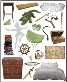 Peter Pan bedroom idea. So doing this for a nursery someday. No joke. I love Peter Pan.