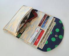Women's Fabric Wallet Wallet Credit Card Holder by Shoppebylola, $28.00
