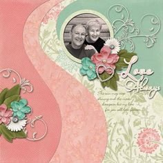 Ideas for Scrapbookers: A new Template/Sketch with Big Swirls!