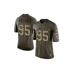 Shop Mens Nike Buffalo Bills 95 Kyle Williams Limited Green Salute To  Service NFL Jersey From Your Favorite Team (Buffalo Bills) At The Official  Online ... a8cfe6e6b