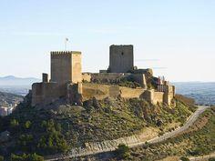 Castillo de Lorca, uno de los castillos más grandes de España.