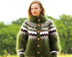 Made to order Icelandic hand knit mohair super fuzzy by supertanya