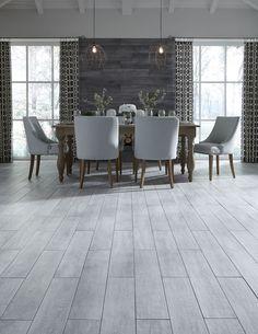 Waterproof Wood Look Tile Gives Any Room The Elegant Look Of Hardwood!  Styles Like