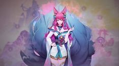 Bambi, Ahri Lol, Ahri League, Legend Images, Wolf Wallpaper, Digital Art Girl, Lol League Of Legends, Art Reference Poses, Funny Games