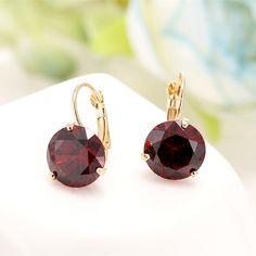 FANCYDE GIRL 6 Color Women's Charm Big Stone Earrings Crystal Earrings Brinco grande Vintage Bijouterie Statement Earrings *** Vy mozhete poluchit' dopolnitel'nuyu informatsiyu po ssylke izobrazheniya.