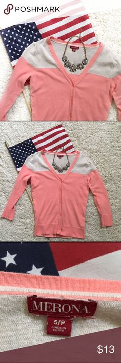 Cream and pink sweater🇺🇸💕 Cream and pink sweater🇺🇸💕 Merona Sweaters Cardigans