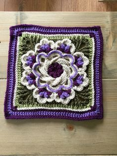 Transcendent Crochet a Solid Granny Square Ideas. Inconceivable Crochet a Solid Granny Square Ideas. Crochet Mandala Pattern, Crochet Quilt, Granny Square Crochet Pattern, Crochet Blocks, Crochet Flower Patterns, Afghan Crochet Patterns, Crochet Squares, Crochet Designs, Crochet Yarn