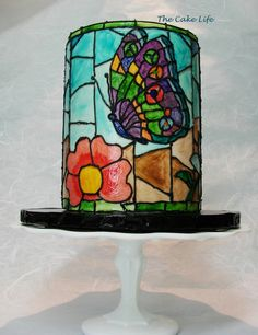 - Stained glass butterfly cake