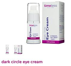 Timeless Skin Care Dark Circle Eye Cream with Hyaluronic Acid HydrateLighten  Firm15 ml * To view further for this item, visit the image link.