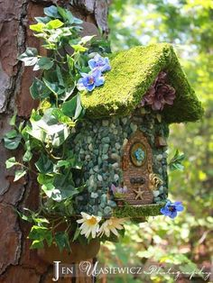 This is a fairy cottage that I made about 2 years ago that is a geocache container and is still in GA. If you like geocaching and are planning a trip down that way and would like to visit this cache, you can find the info for it here http://coord.info/GC30Z9A So far, it has been found 127 times to date :)