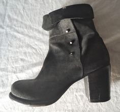 ~ FIORENTINI + BAKER BLACK SUEDE FOLD OVER ANKLE BOOTS / BOOTIES  ~ 39 #FiorentiniBaker #BOOTS