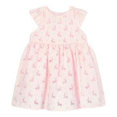 J by Jasper Conran Girls' pink burnout bunny dress-   Debenhams