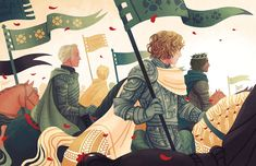 Renly And Loras, Valhalla, Fanart, Game Of Thrones Art, The Draw, Winter Is Coming, Book Art, Fantasy Art, Tarot